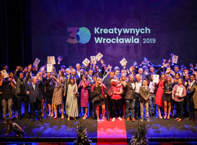 nagrodzenie w konkursie 30 Kreatywnych Wrocławia 2019