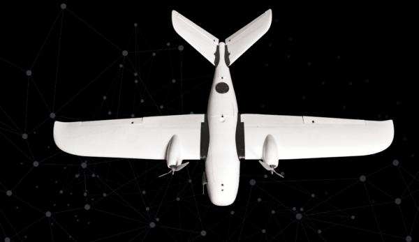 bezzałogowy samolot cywilny Koliber DIY widok z góry