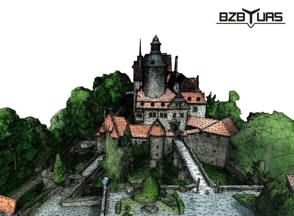 Drony zamek