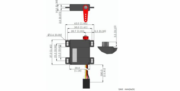 części do dronów Hitec MD145SW schemat