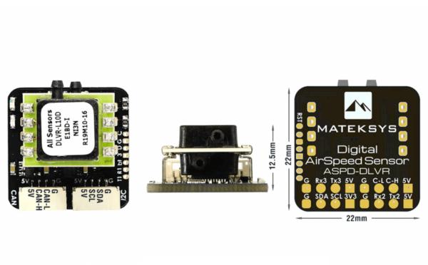 części do dronów Matek czujnik prędkości ASPD-DLVR zestawienie widoków