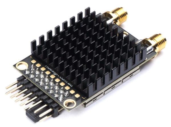 części do dronów RFD900x Modem widok radiatora