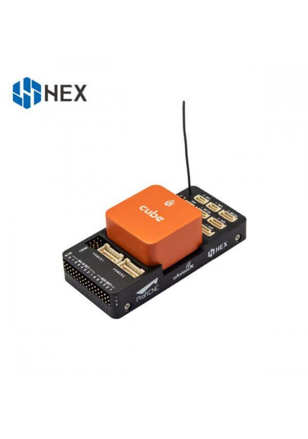 części do dronów The Cube Orange Standard Set (ADS-B Carrier Board) zamontowany moduł na kablu