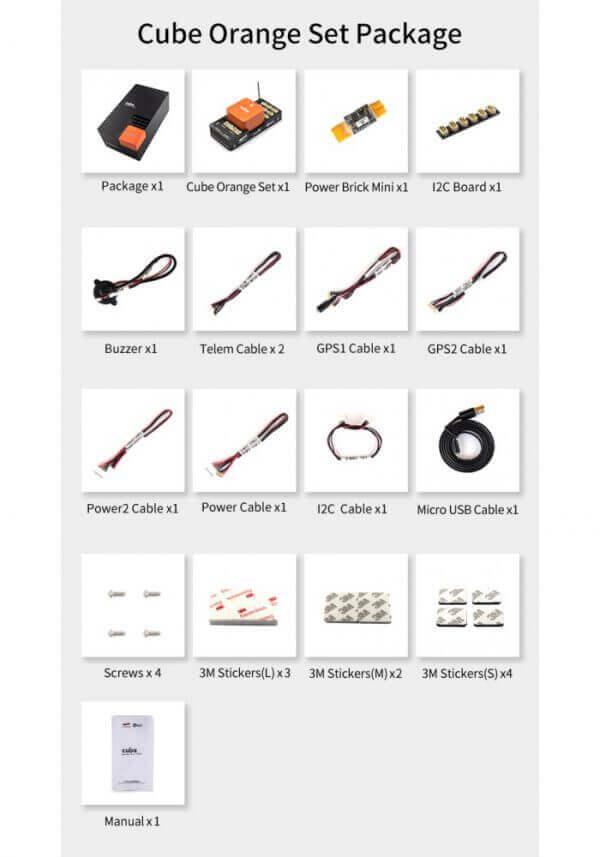 części do dronów The Cube Orange Standard Set (ADS-B Carrier Board) zestawienie dodatków