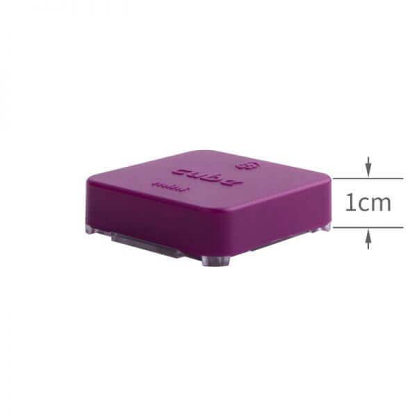 części do dronów The Cube Purple w fioletowej obudowie wielkość