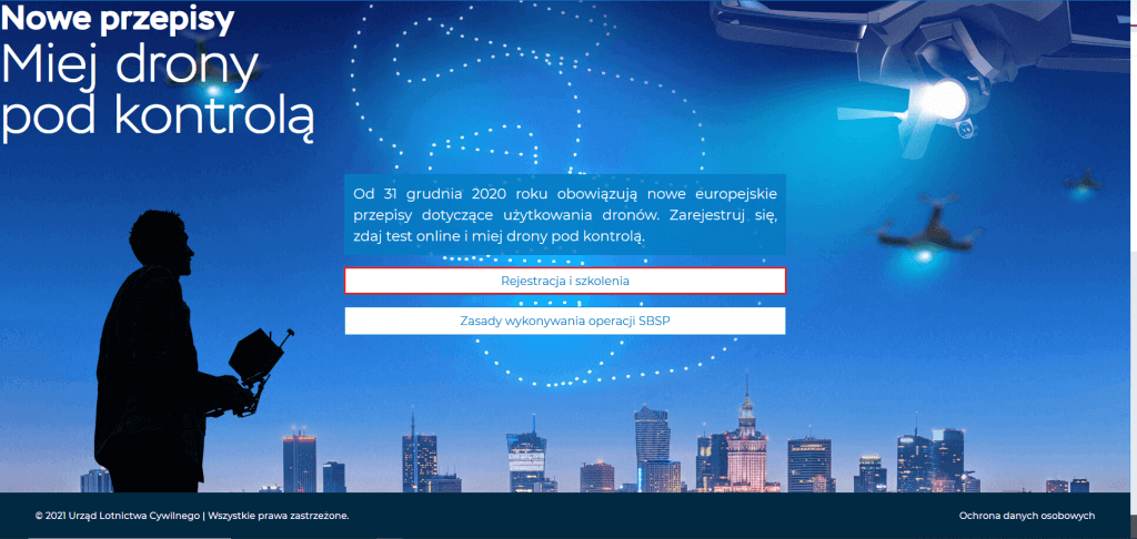 Proces konwersji uprawnień Pilota BSP niebieska strona Urzędu Lotnictwa Cywilnego