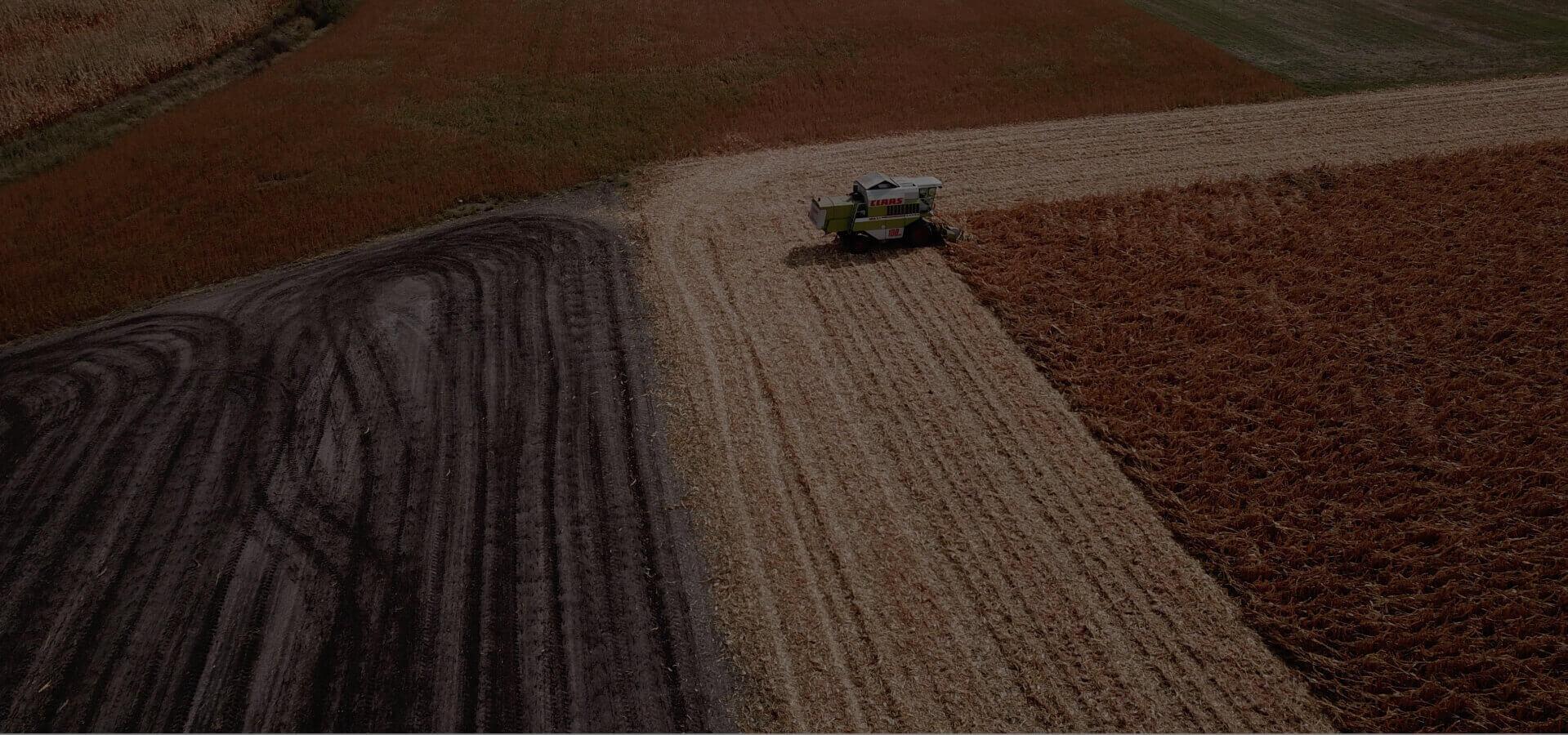 rolnictwo precyzyjne - zdjęcie pól podczas żniw