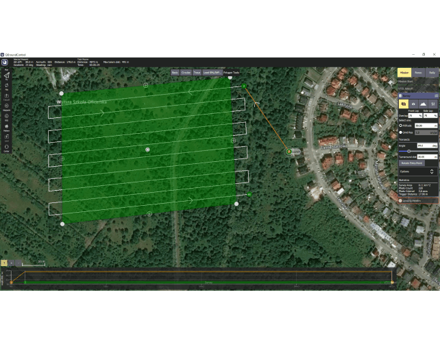 drone surveying application Mission Planner