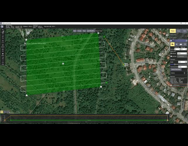 pomiary geodezyjne dronem aplikacja Mission Planner