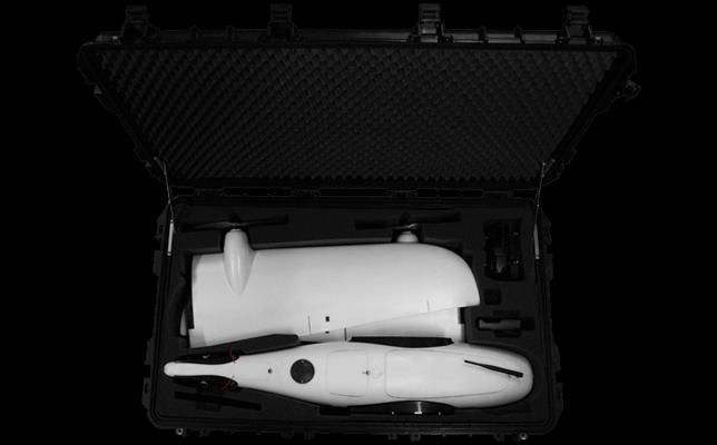 części do dronów - czarna skrzynia transportowa do samolotu bezzałogowego Koliber